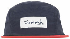 Diamond Supply Co Nylon Camper 5 Panel Hat Headwear Cap Strapback Mens Navy