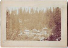 Shasta Springs California CA Resort Railroad Depot Gazebo Cabinet Photo c1890s