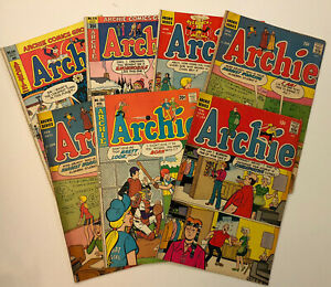 Lot of Seven Bronze Age Archie Comics! Low to Mid Grade, LOOK!