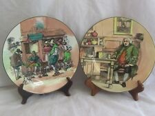 "Royal Doulton 2 10"" The Cobbler & Dr. Johnson at Cheese Shop Collector Plates"