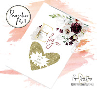 Personalised Bridesmaid Proposal card. Will you be my Bridesmaid. Maid Of Honour