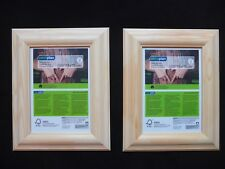 2 cadres en bois naturel oecoplan NEUF EXT 20 X 25 CM PHOTO 13 X 18 CM