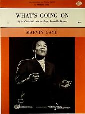 Marvin Gaye-What's Going On-1971 Sheet Music-Original USA issue