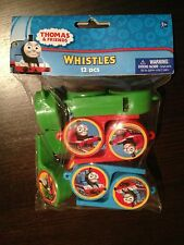 THOMAS AND FRIENDS, THOMAS THE TANK ENGINE PARTY WHISTLES 12 PACK