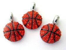 10pcs Rhinestone Sport Basketball Hang Pendant Charms DIY Necklace/Pet Collar