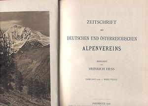 Hess, Zeitschrift Deutscher u Österreich Alpenverein Alpen Band 37 Jahrgang 1906