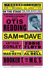 Soul: Otis Redding  & Sam & Dave with Booker T. & MG's Concert Poster 1967