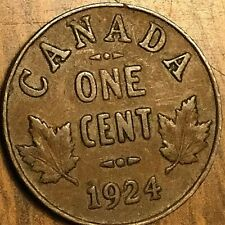 1924 CANADA SMALL CENT COIN PENNY