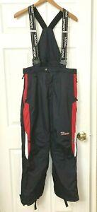 Spyder XT Waterproof Ski Snowboard Pant Suspender Full Side Zip Black Kid 20 XXL