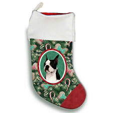 Boston Terrier Christmas Stocking