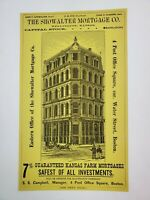 1887 Boston Massachusetts Advertisement Showalter Mortgage Co Kansas Wellington