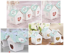 10pcs Love Nest Bird House Favor Boxes Wedding Bridal Shower With Ribbon BX015