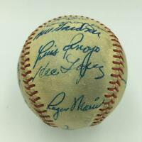 Beautiful 1961 NY Yankees Team Signed Baseball Mickey Mantle Roger Maris JSA