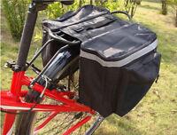 25L Bike Rear Rack Seat Trunk Saddle Tail Storage Pannier Bag MTB Road Bicycle