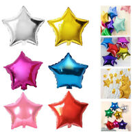5/10Pcs Foil Helium Five-pointed Star Balloons Wedding Birthday Party Decoration