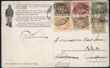Norway 1924 Fram Postcard W/Unusual Multiple Franking, Walrus Scene Reverse
