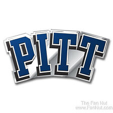 Pittsburgh Panthers PITT 3D Die Cut COLOR Chrome Auto Emblem Decal University of