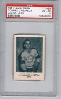 1951 Laval Dairy Lac St. Jean Hockey Card #28 C. L'Heureux Graded PSA 4