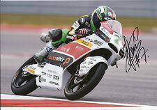 Efrén Vázquez mano firmado saxoprint-rtg Honda 12x8 Foto 2014 Moto3 2.