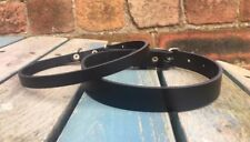 Real Leather Plain Choker Necklace Choice of Colours width 10mm or 20mm Handmade