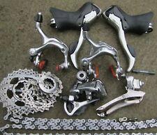 Dura-Ace 7800 mini group:  brakes, levers, derailleurs, cassette,Ultegra chain