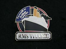 TITANIC 22ct GOLD-PLATED ENAMEL BADGE by the DANBURY MINT WHITE STAR LINE PY27