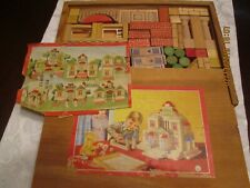 VINTAGE TOY WOOD BLOCK SET GESCH COMPLETE FOR BOYS OR GIRLS 1940s - 50s