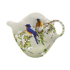 Blue Birds Tea Bag Holder Ashdene New Melamine Teapot Shape Flowers Branch