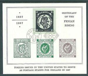 IRELAND 1967 Fenian Miniature Sheet Very Fine Used