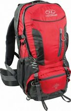 HIGHLANDER RUC234 HIKER WALKING HIKING RUCKSACK WITH RAINCOVER 30L RED
