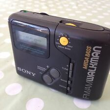 Retro Negra Sony SRF-M45 FM AM Radio Walkman MEGA BASS-muy Raro SRFM 45