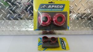 APICO RED FRONT AND REAR WHEEL SPACERS 2002-2021 CRF 250 CRF 450 02-07 CR125 250