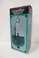 VINTAGE GOETHE GLASS BAROMETER WALL MOUNT  IN ORIGINAL BOX