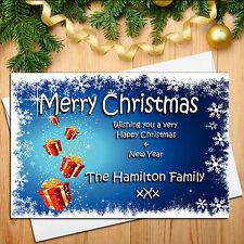 10 Personalised Xmas Gift Happy Christmas Post Cards N15