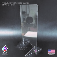 Sneeze Guard, Retail, Check-out, Cashier, Counter, Acrylic, Freestanding, 24x40