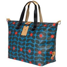 ORLA KIELY SIXTIES STEM LUGGAGE ZIP HOLDALL BAG LARGE - KINGFISHER RRP £175