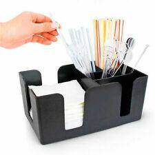 Straw Tissue Box Organizer Storage Condiments Holder Pub Toilet Paper Container