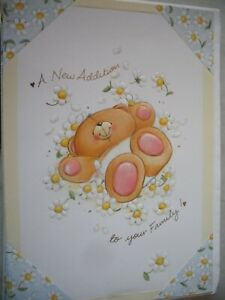 A New Addition To Your Family (Bear Amongst Daisies) Forever Friends Card