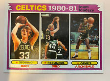 Larry Bird, Nate Archibald Boston Celtics 1980