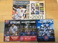 Chicago Cubs 5 Scorecard (Filled Out) Program Yearbook 2000s Marlins Brewers