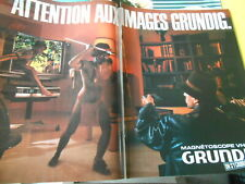 Publicity advert 1984 attention to images grundig it is like