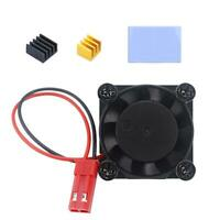 Cooling Fan Cooler Module Heatsink Radiator Kit for Raspberry Pi 4 Model B UK