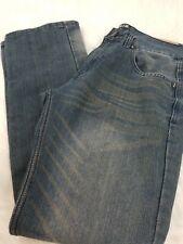 FUSAI Men's Denim Jeans Relaxed Fit Straight Leg Cotton Size W32 L32 (A85)