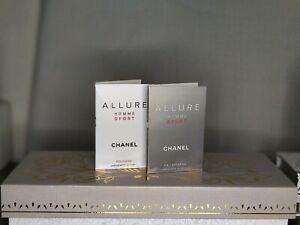 Chanel Allure Homme Sport 1.5 ml EDT   EDP combo 2pk Authentic