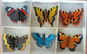 Baumbehang Baumschmuck Schmetterlinge Europas echt Erzgebirge Handarbeit
