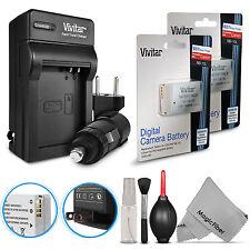 2x Vivitar NB-10L Battery + Charger Kit for Canon Powershot SX50 SX60 G3 X G16