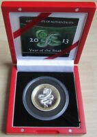2013 Palau Red Crystal Eye Year of the Snake 1oz High Relief Silver Proof Coin