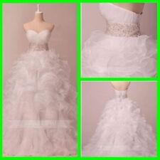 Beading Organza Ball Gown/Dutchess Wedding Dresses