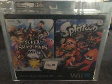 Nintendo Wii U Smash Splat Deluxe Set 32GB VGA U90+ Smash Bros and Splatoon NEW