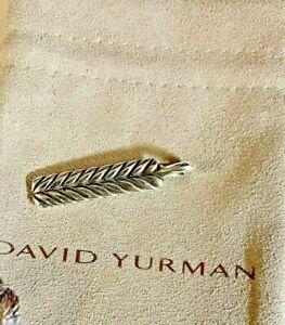 David Yurman sterling silver chevron ingot tag